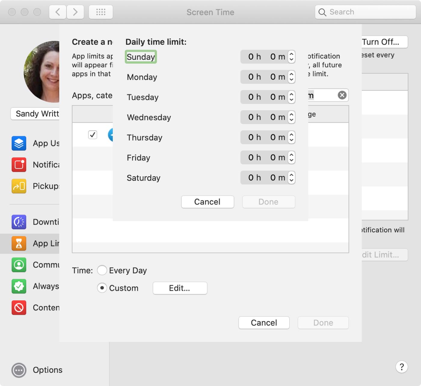 Mac-näytön sähkön aikakatkaisu