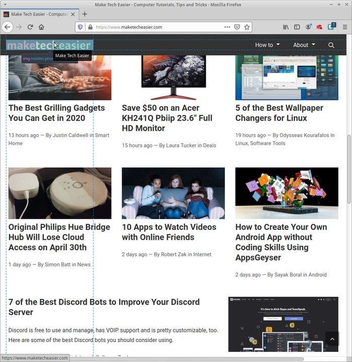Live-editointisivusto Firefoxissa Valitse logo