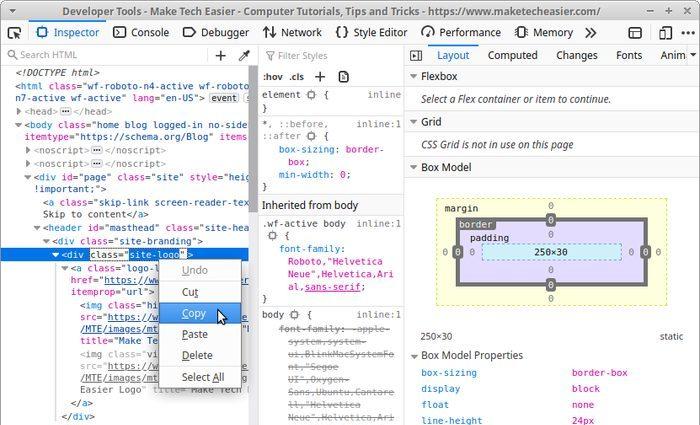 Живое редактирование сайта с помощью Firefox Copy Selector