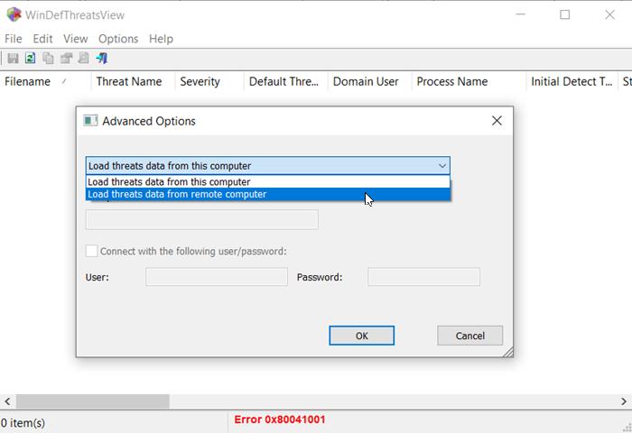 WinDefThreatsView-työkalun avulla voit asettaa oletustoiminnot Windows Uhat puolustajalle
