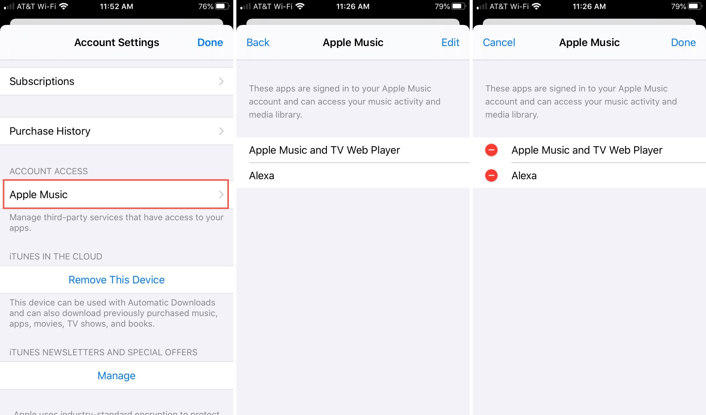 Asetukset iTunes ja iPhone App Store