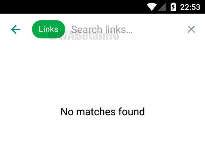 Tarkennettu haku WhatsAppissa.