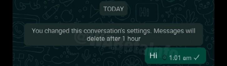 WhatsApp voi kirjoittaa väliaikaisia chat-viestejä 2