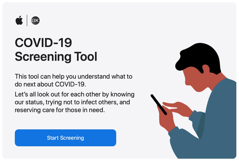 Apple    COVID-19 Web Screen Tool -työkalu