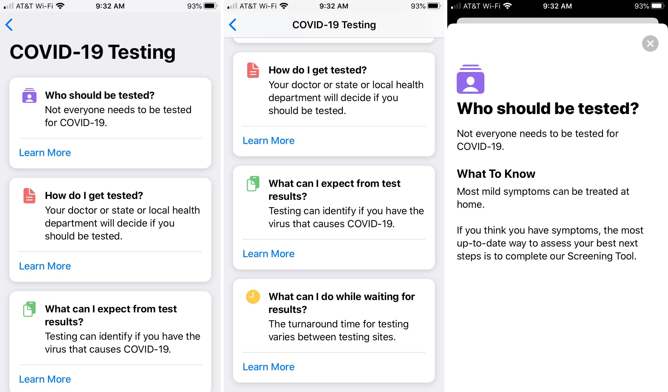 Apple    COVID-19 iPhone-sovellusten testaus