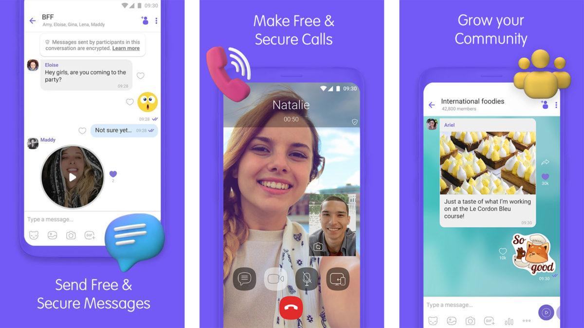 Näyttökuva Viber 2020: sta 2