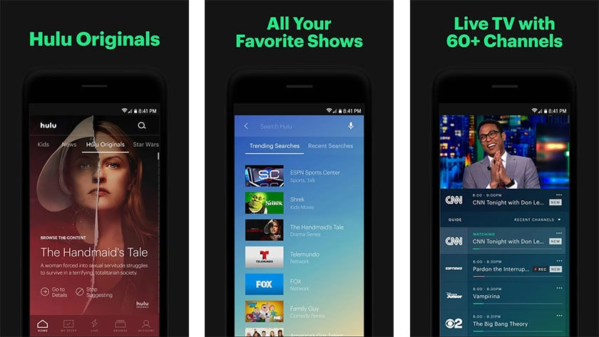 Hulu on yksi parhaista Android-TV-sovelluksista