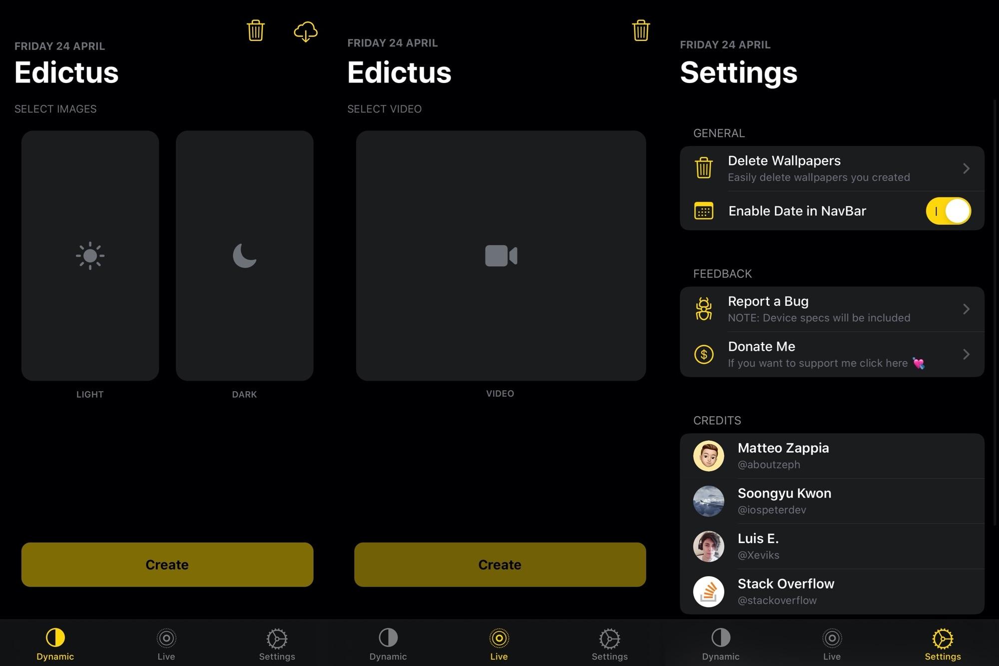 Edictus permite aos usuários criar Dynamic & amp; Papéis de parede animados para iOS de graça 3