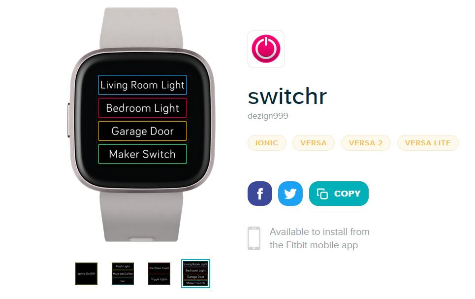 Paras Switchr Fitbit -sovellus