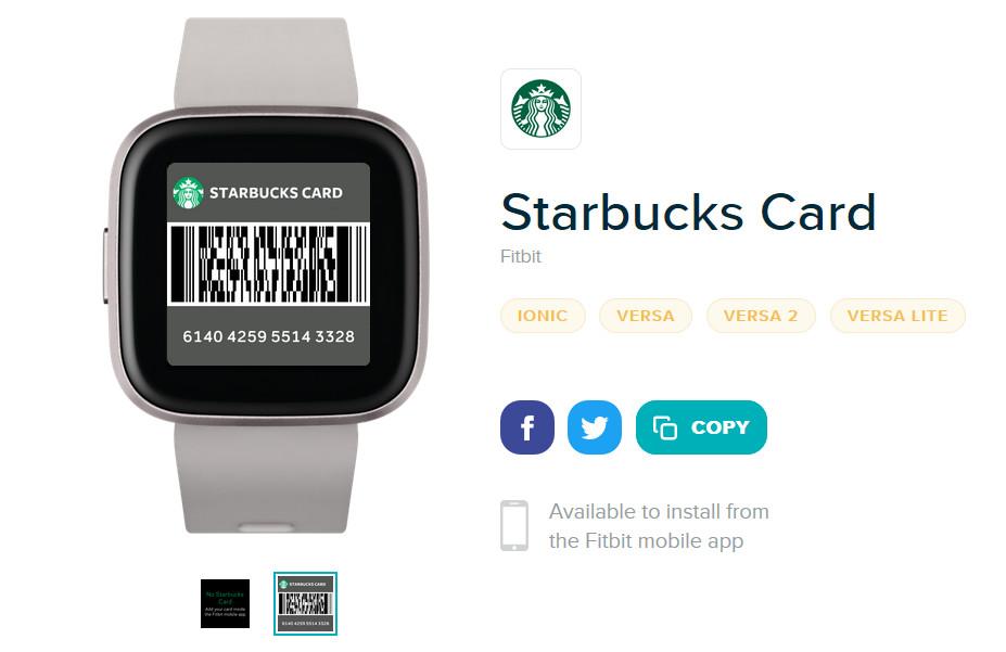 """Fitbit-sovellukset Starbucks-kortti """"leveys ="""" 1200 """"korkeus ="""" 778"""