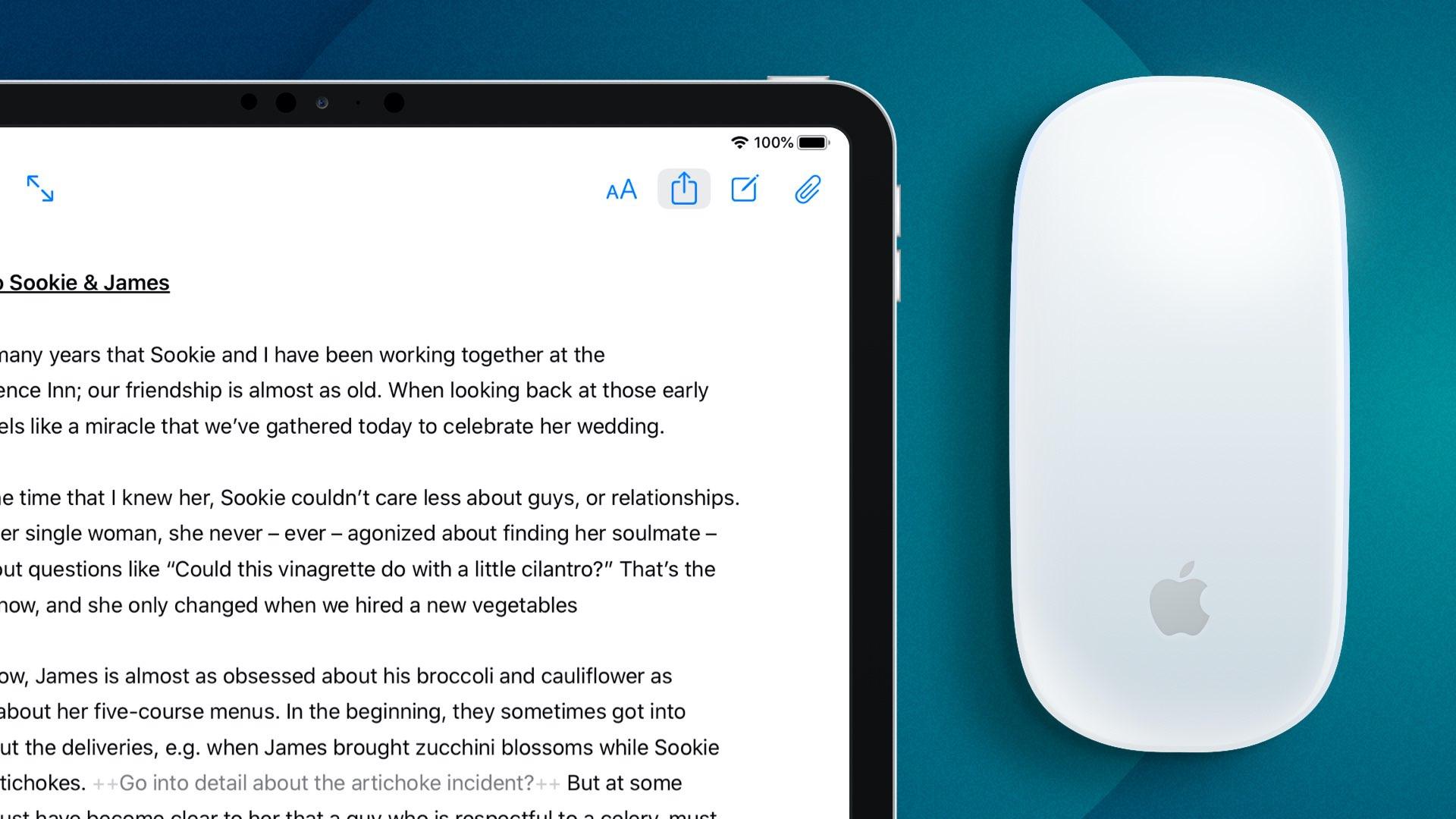 Ulysses kirjoittaa sovelluksen, joka on päivitetty tuella iPadin ohjauslevylle, avainsanoille, materiaalilevyille ja muille 1