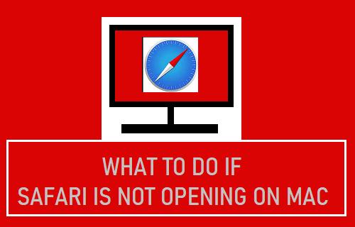 Mitä tehdä, jos Safari ei avaudu Mac-tietokoneessa