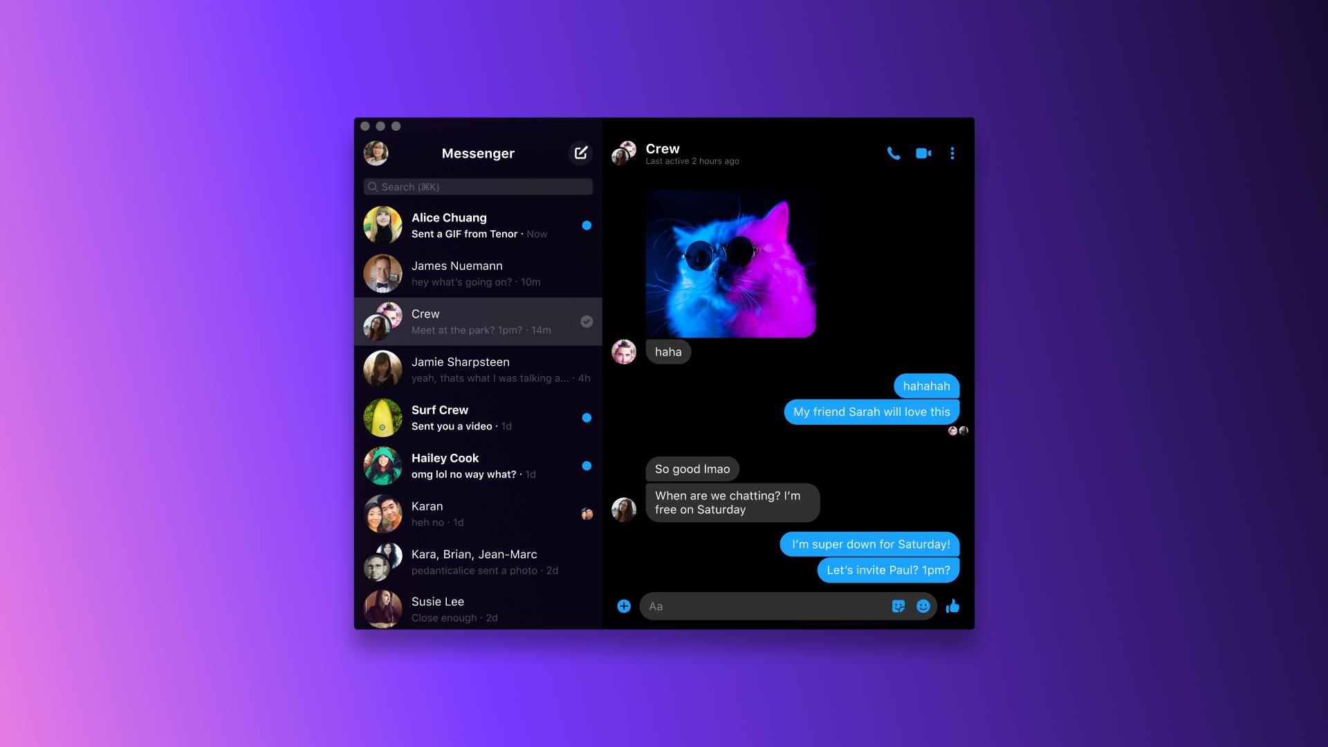 Facebook  Käynnistää Desktop Messenger -sovelluksen ryhmävideopuhelun avulla 1