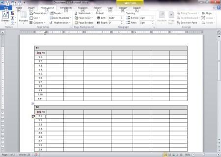 Kuinka sovittaa taulukko sivulle Microsoft Wordissa