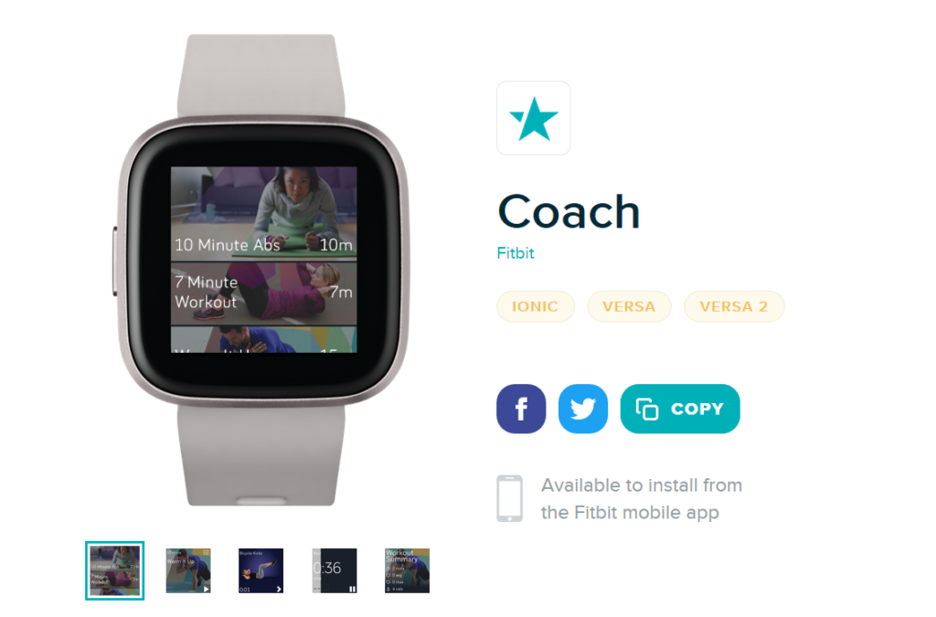 Fitbit Coach -sovellus