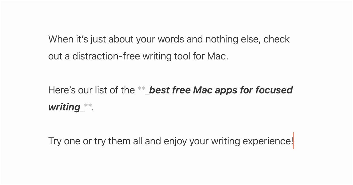 Saumattomat kirjoitussovellukset Mac-paperille