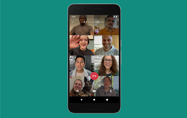 WhatsApp tukee nyt ryhmävideopuheluita jopa kahdeksan henkilön kanssa 1