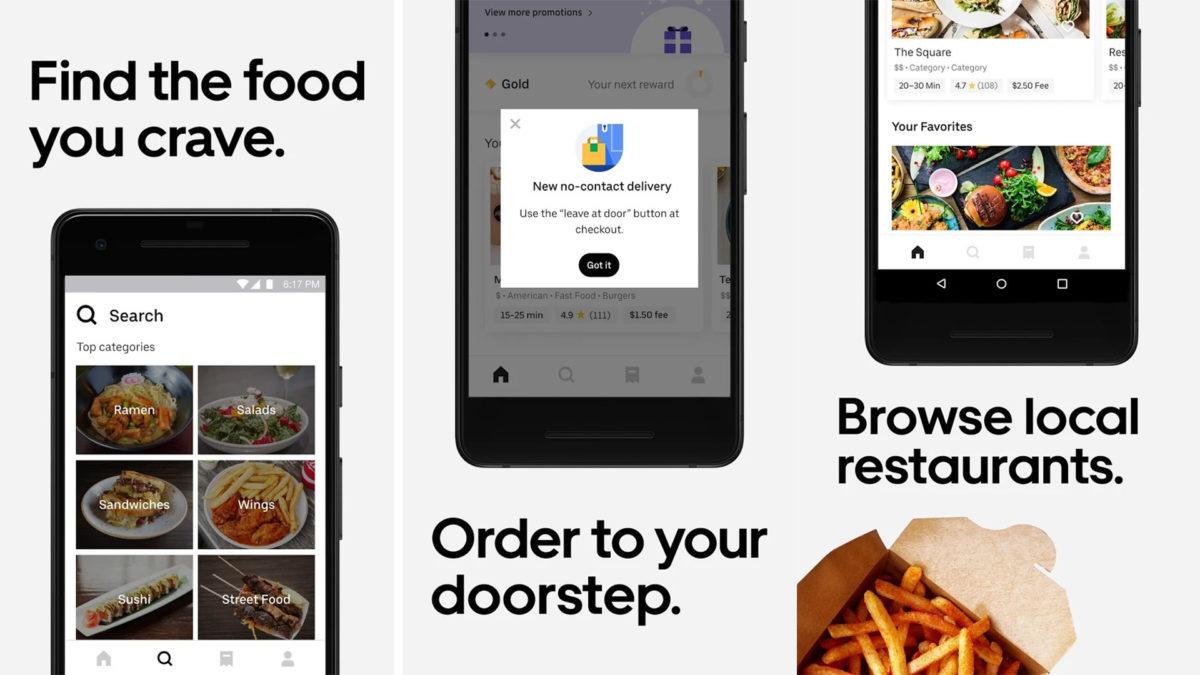 Näyttökuva Uber Eats 2020 -tapahtumasta