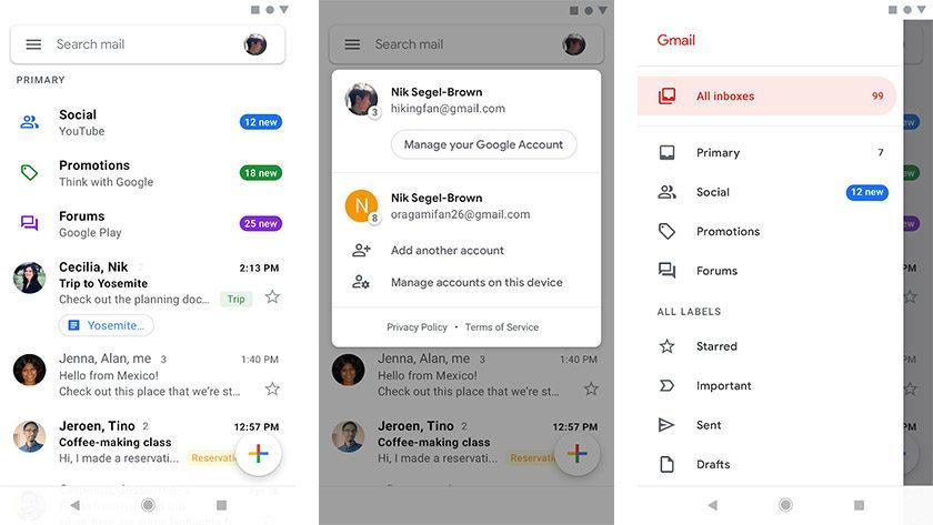 Gmail - parhaat sähköpostisovellukset