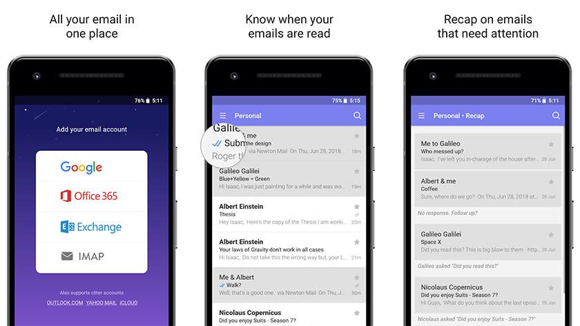 Newton Mail - parhaat sähköpostisovellukset