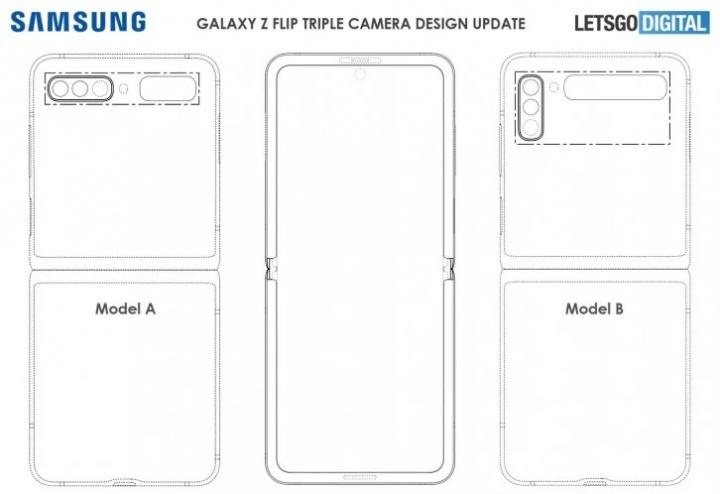 Yeni Samsung Galaxy Flip ilə 2 üç kamera ilə gələ bilər 3