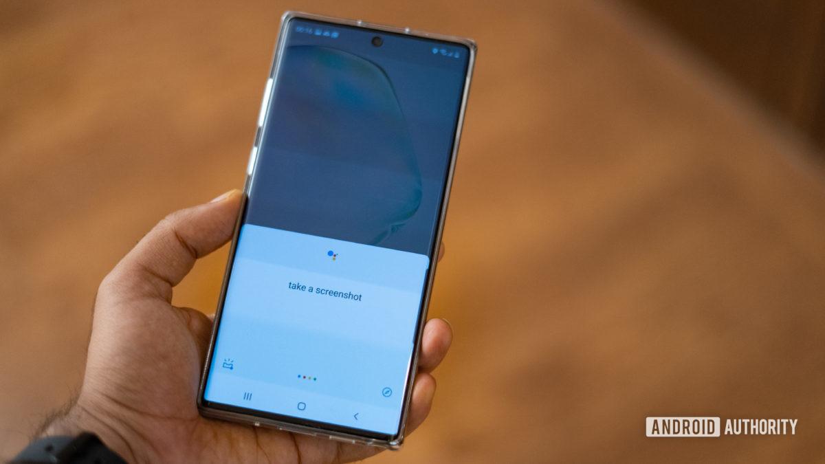 Samsung Note 10 kuvakaappausta OK Google -komennon avulla - Kuvien ottaminen kuvakaappauksella Androidilla.