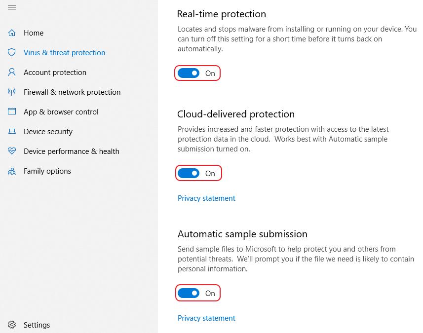 Windows    Encontradas ameaças do Defender Antivirus