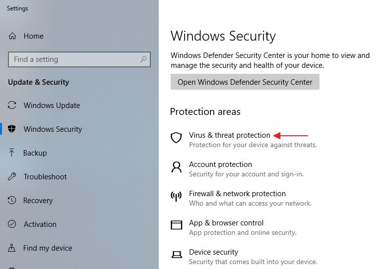 Como vencer Windows Encontradas ameaças do Defender Antivirus
