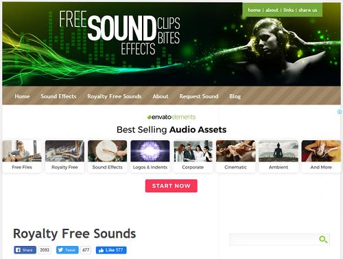 Paras verkkosivusto löytää ilmaisia ääniefektejä ilman rojaltivapaita 4