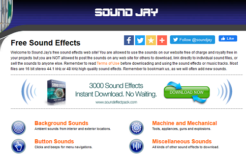 Paras verkkosivusto löytää ilmaisia ääniefektejä ilman rojaltivapaita 1