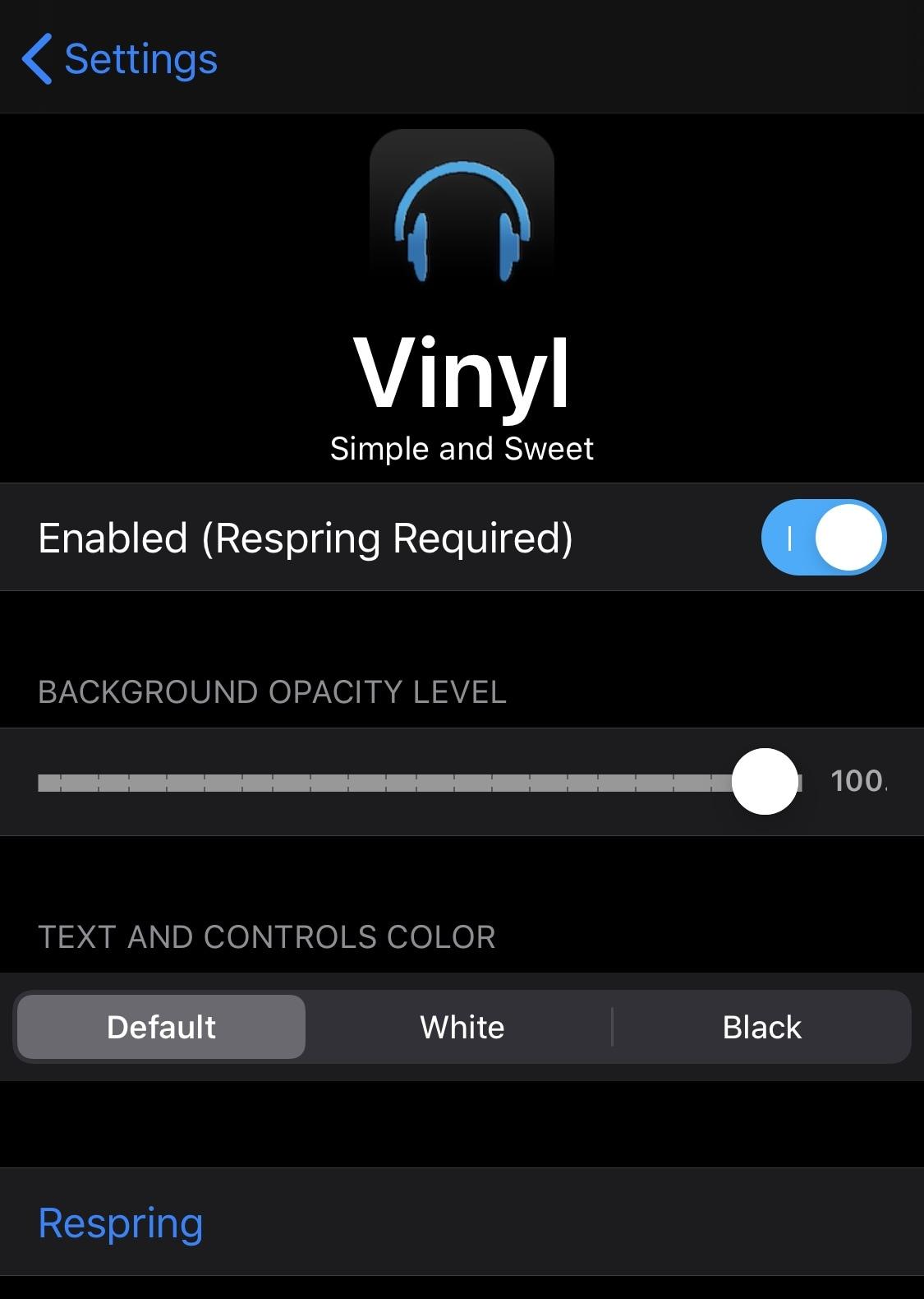 Vinil, iOS-da İndi Playing vidjetini asanlaşdırır 3