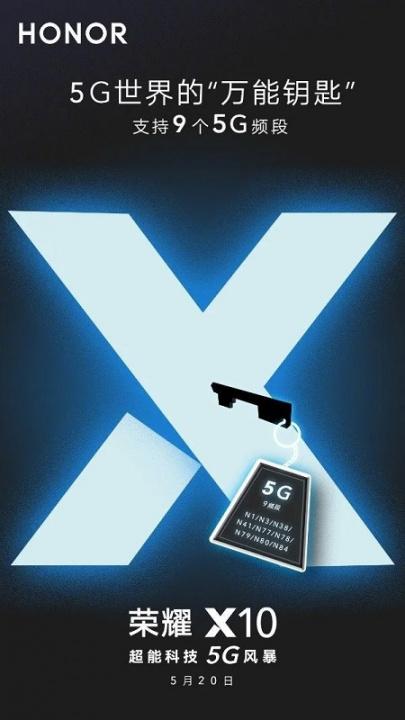 Honor X10 может стать основным 5G ключом по всему миру 2