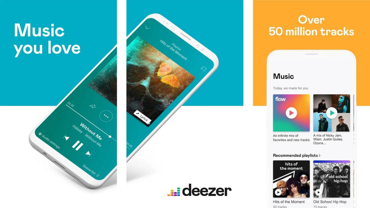 Deezer-kuvakaappaus 2019 parhaat ilmaiset musiikkisovellukset