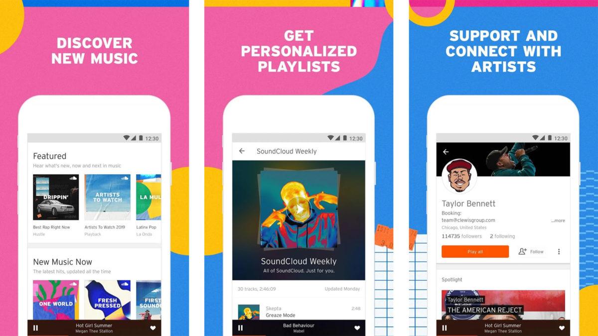 Näyttökuva SoundCloud ovat muusikoiden parhaat sovellukset