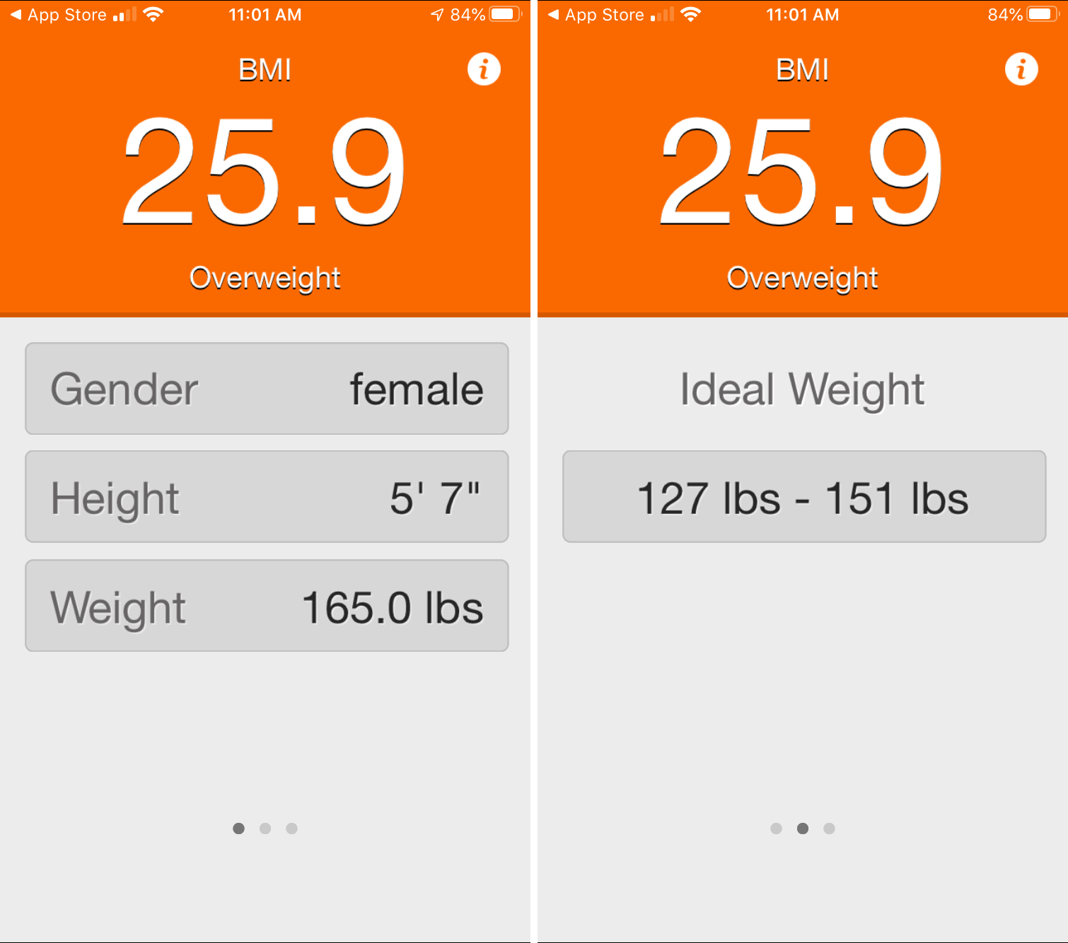 Naisten miesten BMI-laskin iPhone