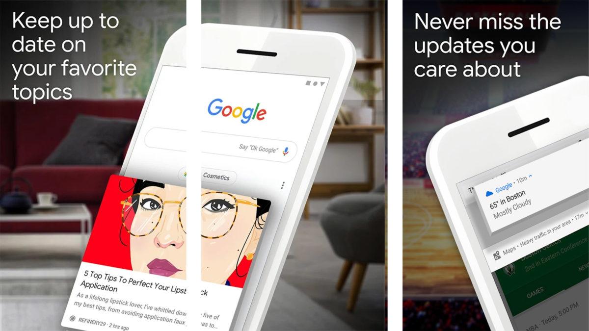 Captura de tela do aplicativo Google 2020