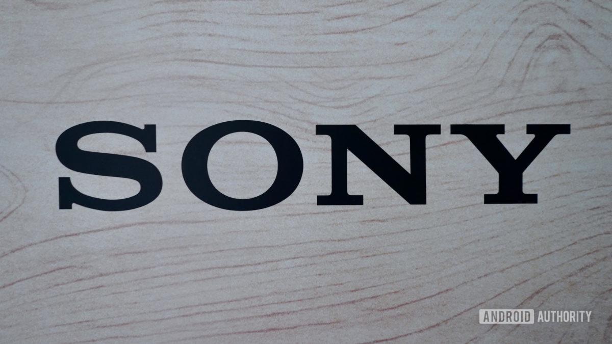 Sonyn logo mustalla puulla