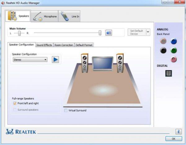 Como atualizar e reinstalar o HD Audio Manager Realtek 1