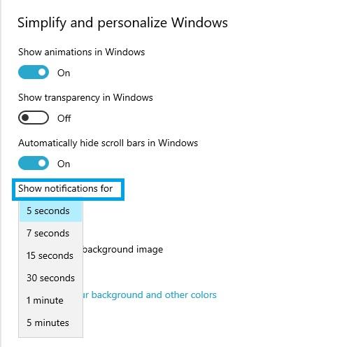 Nə qədər dəyişəcək Windows 10 bildirişləri göstərir 2