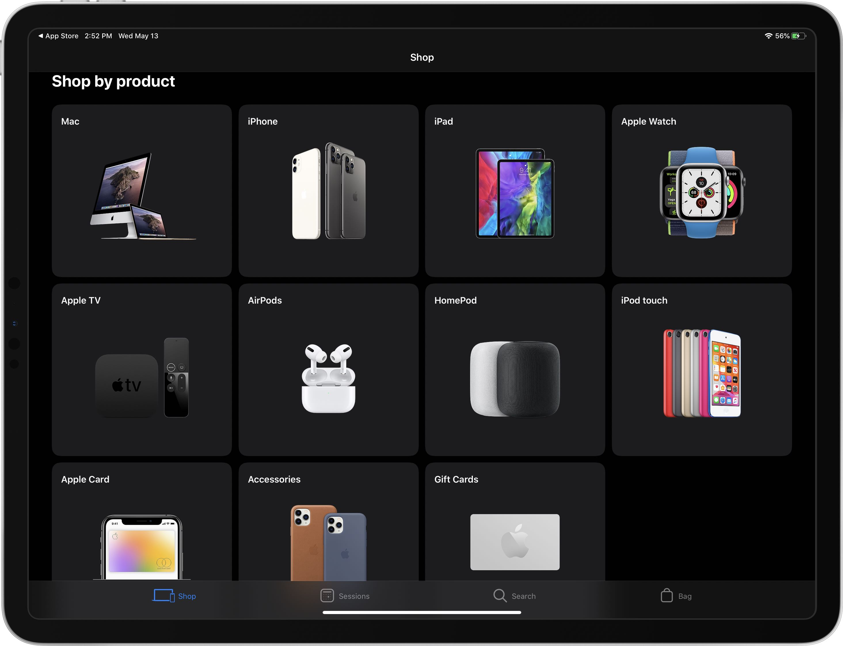 Virallinen Apple Store-sovellus on saanut tumman tilan tukea 1