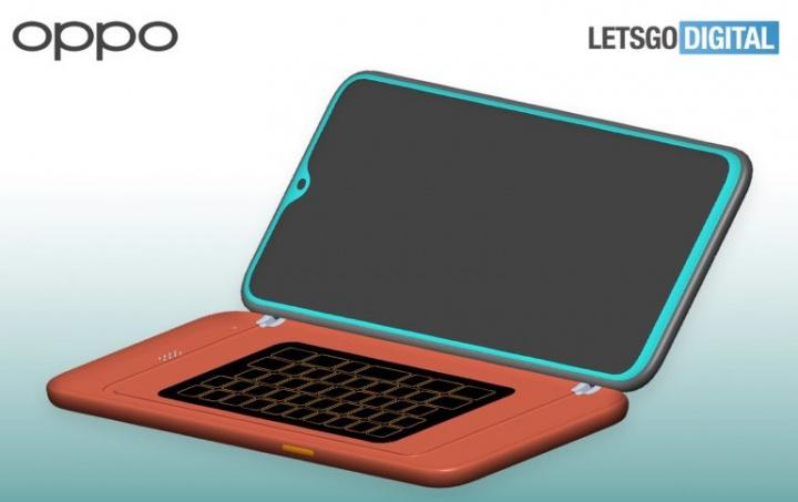 OPPO patenti fiziki QWERTY klaviaturası olan bir smartfonu göstərir 1