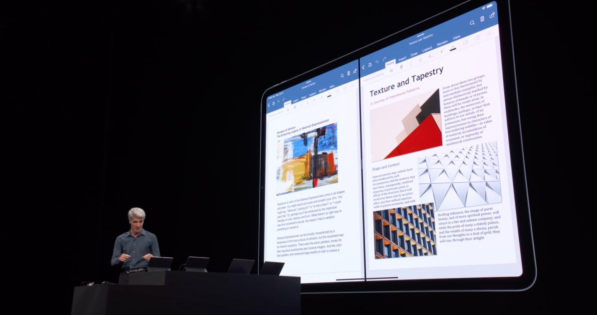 Word ja PowerPoint hyötyvät Split View -sovelluksesta, ja pad-tuki tulee Office iOS: iin syksyllä 1