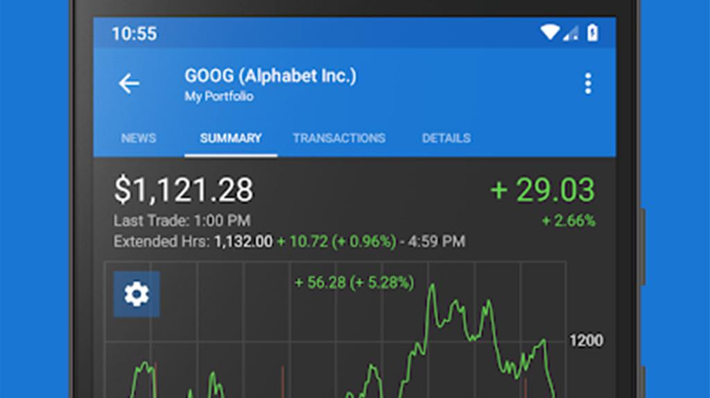 Esta é a imagem em destaque dos melhores aplicativos do mercado de ações para android