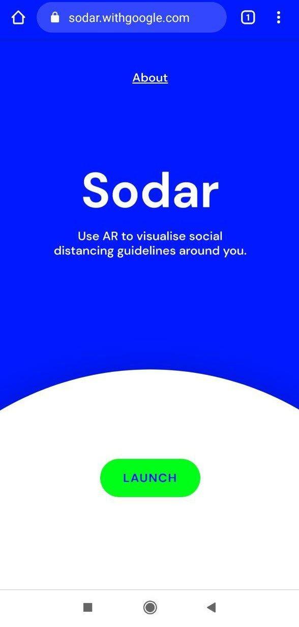 Držite distancu kad odlazite koristeći pametni telefon i Sodar 1