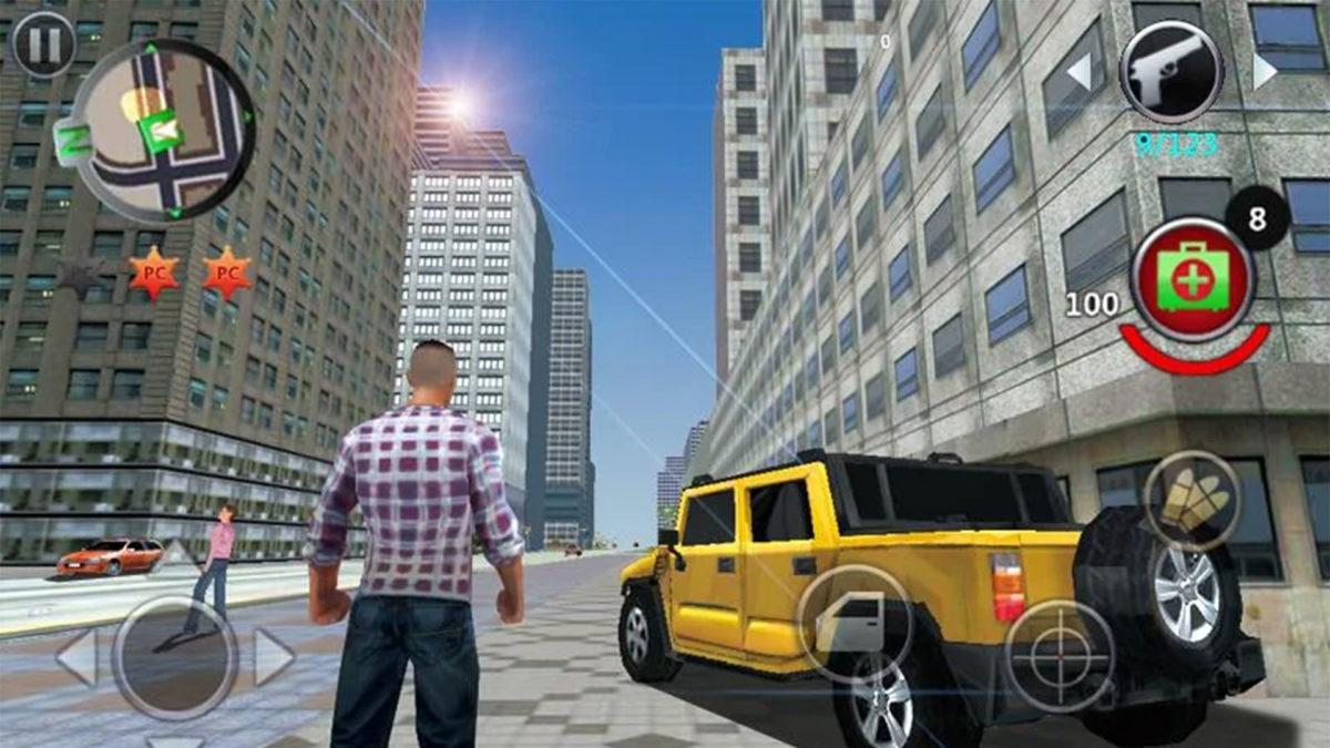 Näyttökuva Grand Gangsters 3D: stä