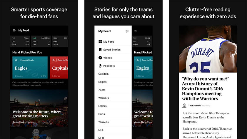 Athletic - os melhores aplicativos de notícias esportivas para Android