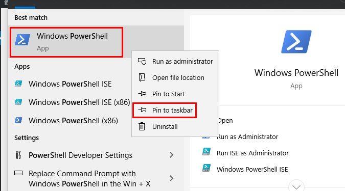 7  Tapoja avata PowerShell sisään Windows 10 3
