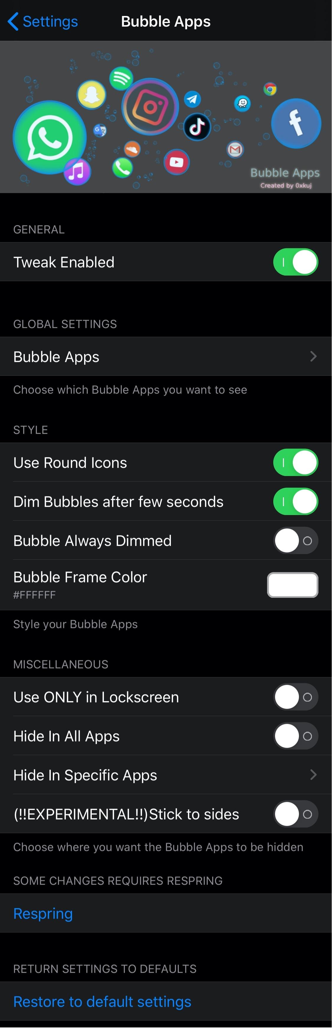 Bubble Apps on erittäin konfiguroitavissa oleva iPhonen kantoraketti, jolla on jailbreak 2