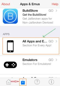 Napsauta kaikkia sovelluksia ja emulaattoreita iOSEmus-ohjelmassa