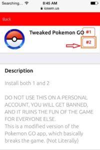 Kliknij- #2-Painiketta ja lataa-Tweaked-Pokémon-Go-from-iOSEmus